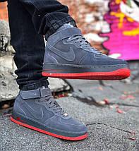 Зимние мужские кроссовки Nike Air Force 1 Mid Winter c мехом, nike air force high, фото 3