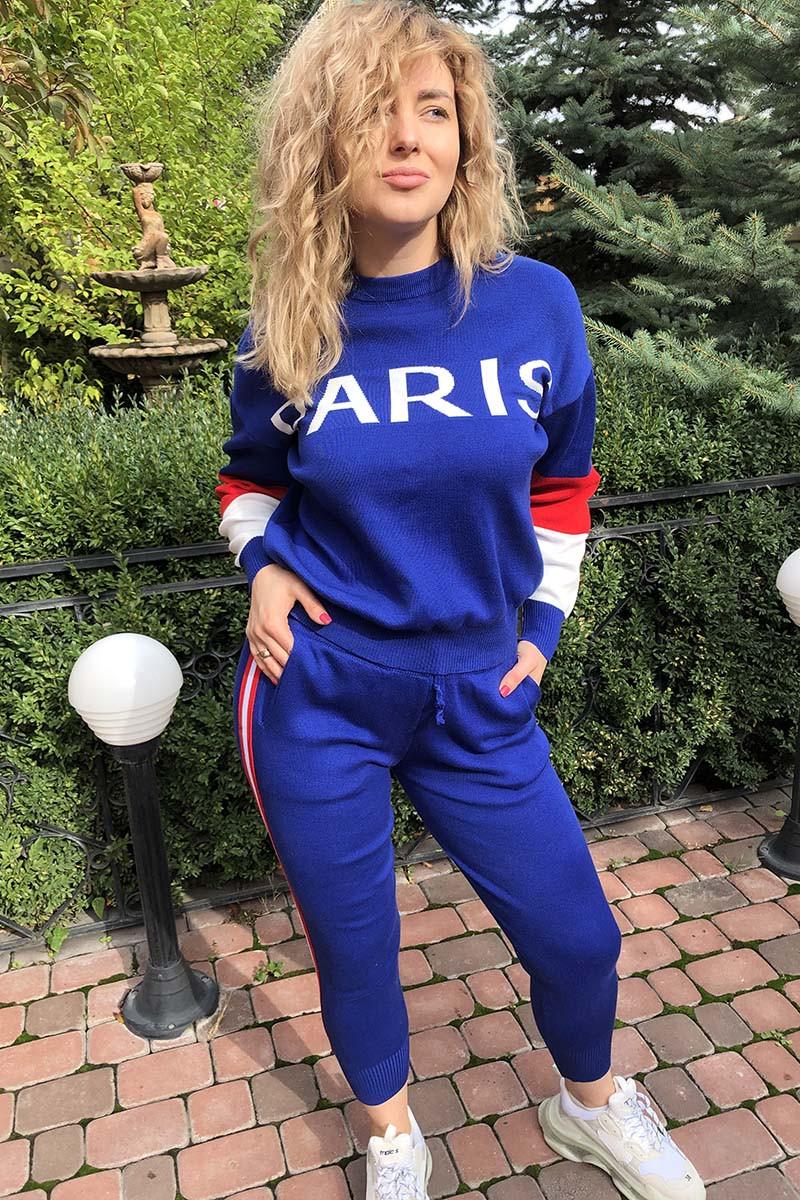 Костюм PARIS в стиле спорт-шик LUREX - синий цвет, S (есть размеры)