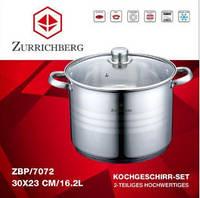 Кастрюля Zurrichberg DELUXE ZBP 7072 Нержавейка 16,2 Л Большая Кухонная Кастрюля