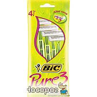 Набор бритв без сменных картриджей BIC Pure 3 Lady 4 шт (3086126726984)