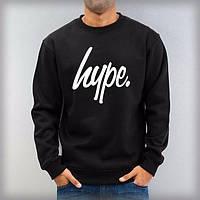 Спортивная кофта Hype/Хайп, черная, двухнитка, Л3939