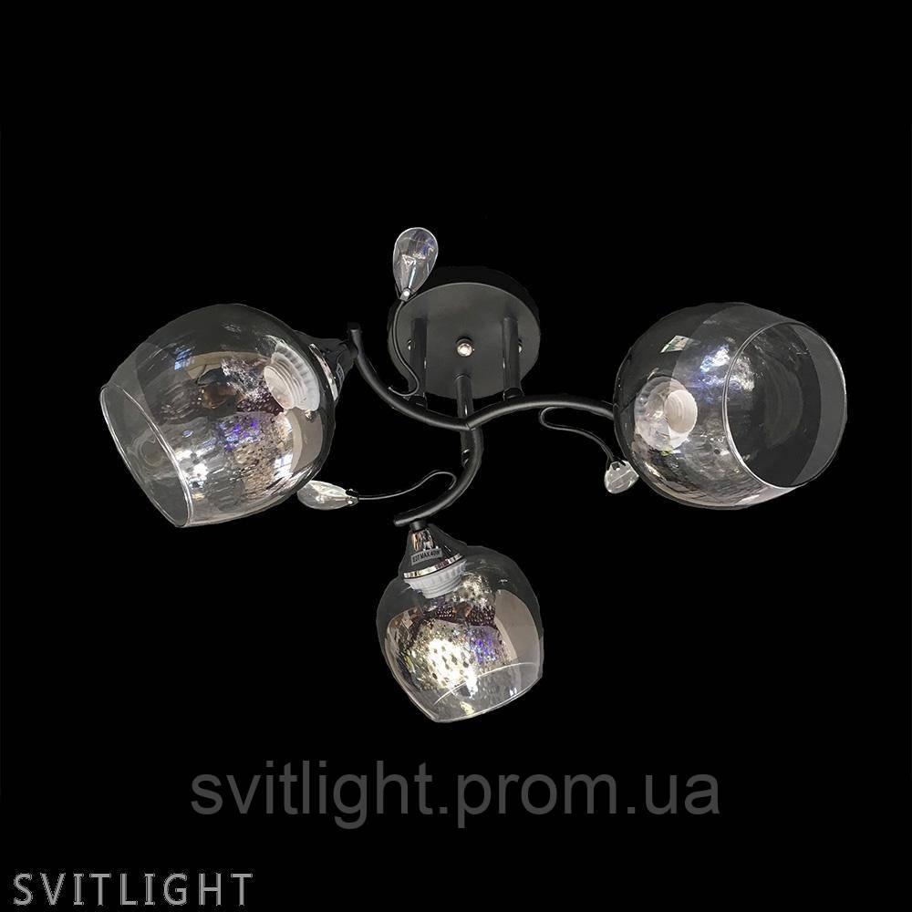 Люстра на 3 плафона Q2114/3 BK/CH Svitlight