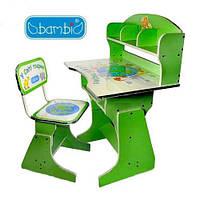 Детская парта со стульчиком трансформер Bambi HB 2070 (стол-парта растишка), фото 1