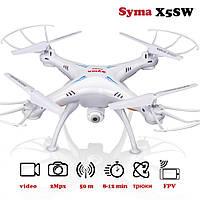 Квадрокоптер с видеокамерой на радиоуправлении Syma X5SW с камерой WiFi (Белый)