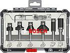 Набор кромочных фрез Bosch Trim&Edging 8 мм, 6 шт (2607017469), фото 2