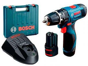 Ударний дриль-шуруповерт Bosch GSB 120-Li + 2 акб 1,5 Ah + з/у AL 1115 CV + валіза (06019F3006)