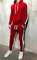 Зимний спортивный костюм, костюм на флисе красного и белого цвета,