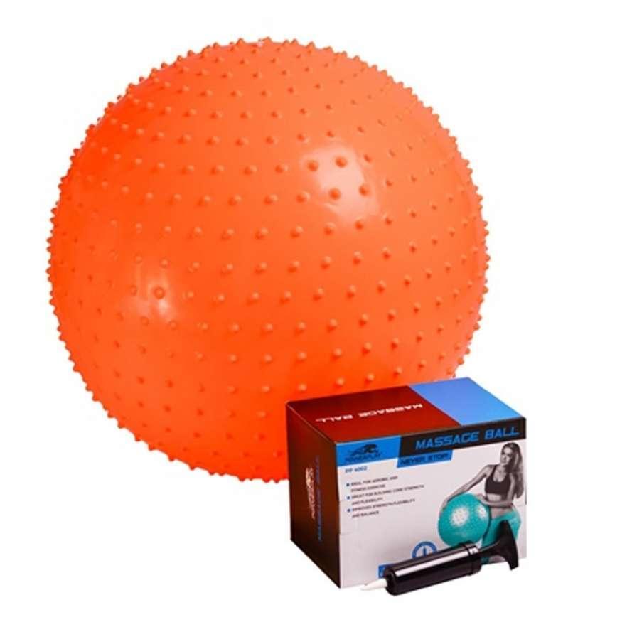 Мяч-массажер для фитнеса 4002 55см Оранжевый, насос R143905