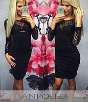 Купить платье с гипюром, гипюровый верх