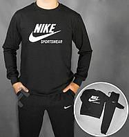 Зимний спортивный костюм, костюм на флисе Nike Sportswear черный, реплика