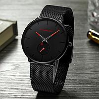 Часы наручные CRRJU. Мужские водонепроницаемые часы Red