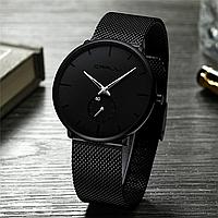 Часы наручные CRRJU. Мужские водонепроницаемые часы Silver