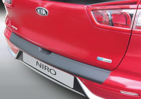 Накладка на задний бампер Kia Niro 2016-, ABS-пластик RBP870