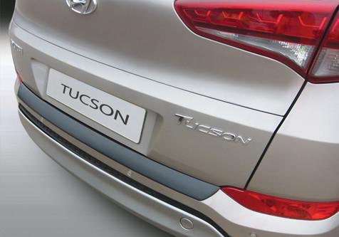 Накладка на задний бампер Хюндай Туксон, Hyundai Tucson 2015-2018, ABS-пластик RBP860