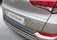 Накладка на задний бампер Хюндай Туксон, Hyundai Tucson 2015-2018, ABS-пластик RBP860, фото 1