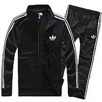 Зимний спортивный костюм , костюм на флисе Adidas, ченый костюм, с лампасами, с2943
