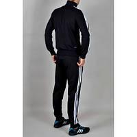 Зимний спортивный костюм, костюм на флисе Adidas, черный костюм, с лампасами, с2951