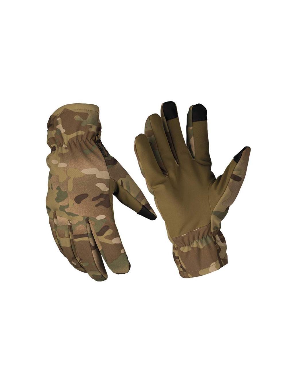 Перчатки зимние тактические Mil-Tec мультикам softshell thinsulate