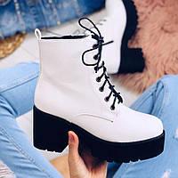 Ботинки белые женские, фото 1