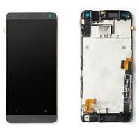HTC one mini black LCD, модуль, дисплей с сенсорным экраном (в сборе с рамкой)