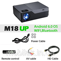 AUN проектор Full HD M18UP Android 6.0 OS, Wi-fi, Bluetooth