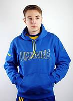 Зимний спортивный костюм, костюм на флисе синий, с3301