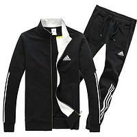Зимний спортивный костюм , костюм на флисе Adidas, ченый костюм, с лампасами, с2923