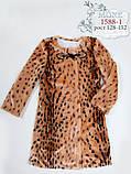 Леопардовое пальто для девочки тм Моне р-ры 128,134,140,146,152, фото 2