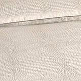 Valeron (Валерон) Crocodile ekru постельное бельё сатин евро, фото 2