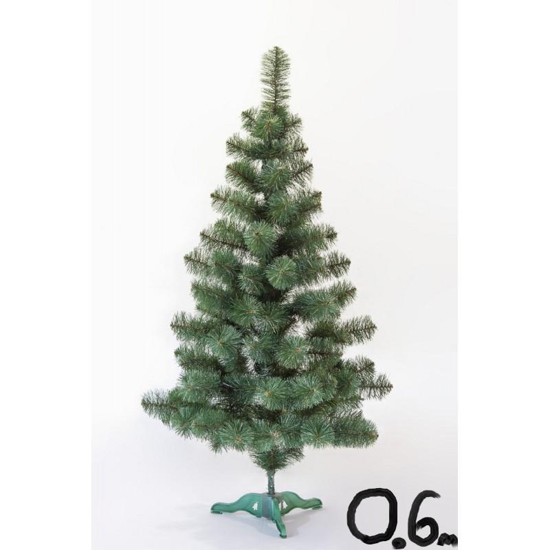 """Искусственная елка """"Принцесса"""" зелёная с белыми кончиками 0,6м"""