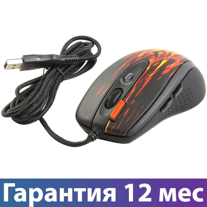 Ігрова миша A4 Tech X7 XL-750BK (fiery Red), USB, дротова
