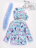 Курточка с натуральным мехом зимняя для девочки тм Моне р-ры 122, фото 2
