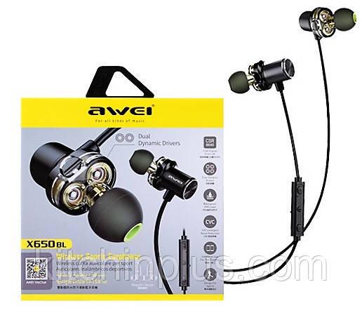 Наушники Awei X650 BL  Bluetooth