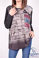 Блуза женская (цв.т.серый) трикотажная GEVENCE 60088 Размер:54,56,58