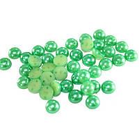 Полубусы запаянная упаковка (цвет-зеленый), 8мм