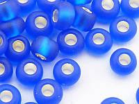 Чешский Бисер Preciosa 67300m (синий матово-блестящий), 5г