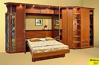 Двухспальная шкаф-кровать с угловым шкафом, фото 1