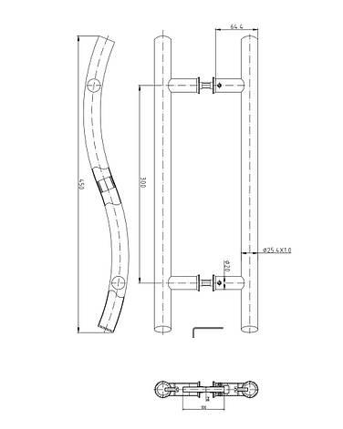 Ручки-скобы APECS HC-0915-25/300-INOX, фото 2