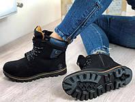 Зимние женские ботинки на шнуровке полномерные 36 37