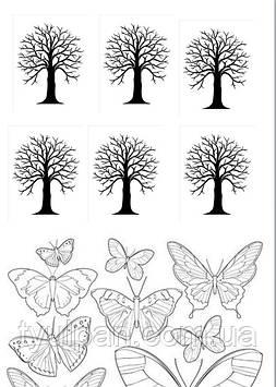 Шаблоны  для  айсинга и шоколада эскизы дерево
