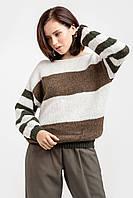 Объемный женский свитер из нежной и теплой полушерстяной пряжи с мохером, фото 1