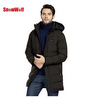 Мужская длинная зимняя куртка с подогревом USB. Арт.01445