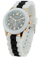 Наручний жіночий годинник Geneva sport (чорний) / Часы наручные женские GENEVA sport черные
