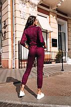 """Замшевый женский брючный комбинезон """"Trump"""" с карманами (3 цвета), фото 3"""