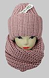М 6162 Комплект женский шапка и шарф хомут  , разные цвета, фото 2
