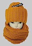М 6162 Комплект женский шапка и шарф хомут  , разные цвета, фото 3