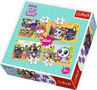 Пазли 34295 Trefl Приємні спогади, Hasbro, Littlest Pet Shop, 4в1 (54, 80, 104, 104 дет.)