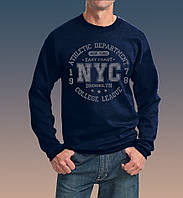 "0030-150-SWRA NY  Мужская толстовка с длинными рукавами ""NYC"", темно-синяя"
