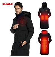 Мужская длинная зимняя куртка с подогревом USB. Арт.01446, фото 1