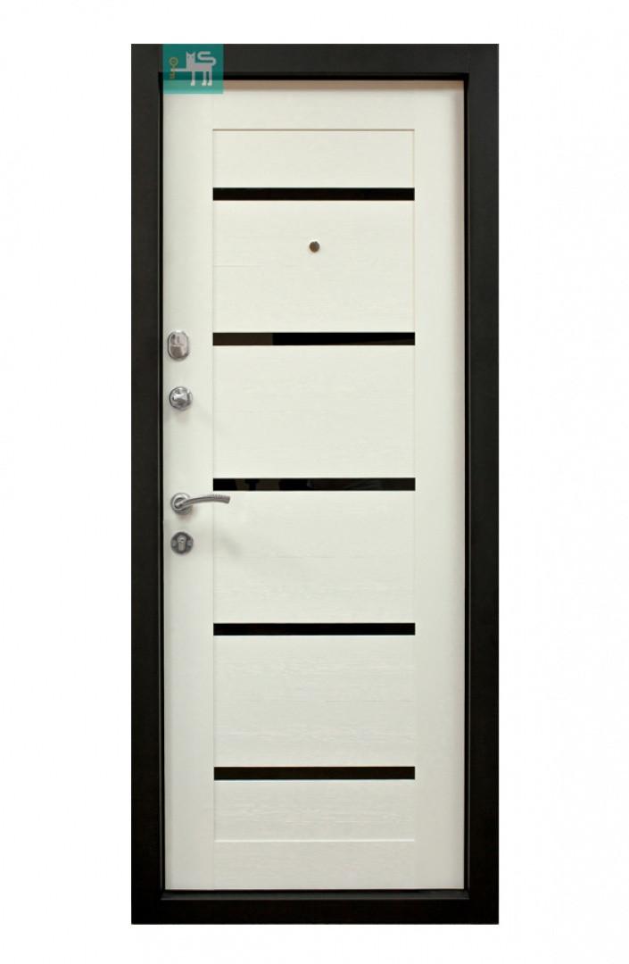 Дверь ПК-180/161 МДФ/МДФ Венге горизонт тёмный/ Царга белая (860)